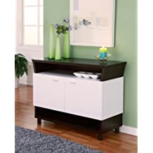 Furniture of America Crestview Contemporary Buffet Sideboard, White and Cappuccino