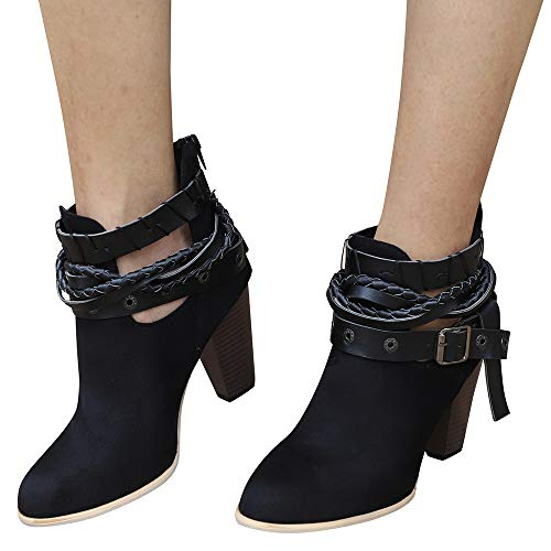 Boots For Women, Clearance Sale !! Farjing Ankle Short Booties Leather Knight Martin Boots (US:8,Black ) by Farjing