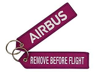 Airbus Llavero Remove Before Flight | Blackberry | inscripciones Silberne | Aprox. 13 x 3,0 cm | de Comercial
