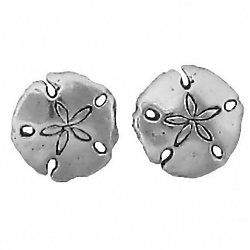 Corinna-Maria 925 Sterling Silver Sand Dollar Earrings Studs Tiny Mini Stainless Steel Posts and Backs