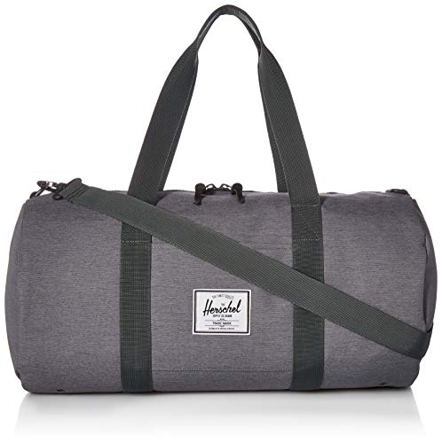 Herschel Sutton Volume Duffel Bag, Mid Grey Crosshatch, One Size