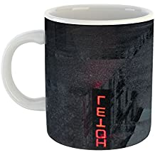 Westlake - Coffee Cup Mug - Red Darkness - Modern Picture Photography Artwork Home Office Birthday Gift - 11oz (69m 34a)