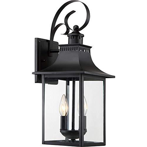 Quoizel CCR8408K Chancellor Outdoor Lantern Wall Sconce, 2-Light, 120 Watts, Mystic Black (19