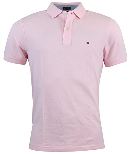 Tommy Hilfiger Mens Custom Fit Solid Color Polo Shirt - M...