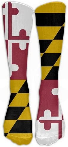 Flag Of Maryland Knee High Crew Socks Knee High Stockings