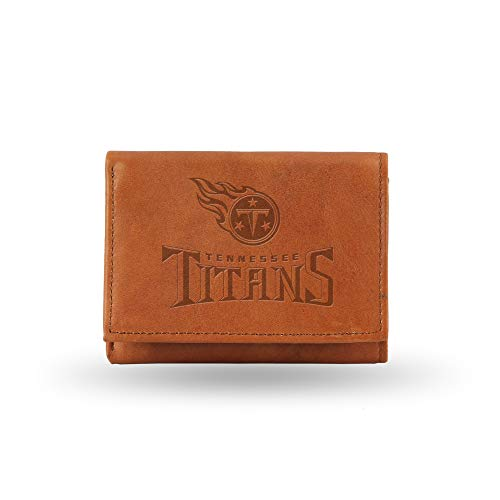 Rico Industries NFL Tennessee Titans Leather Trifold Wallet with Man Made Interior