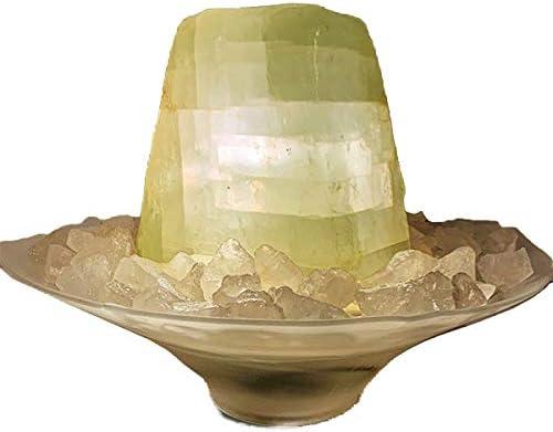 Quellstein aus echtem Calcit Tischbrunnen f/ür zu Hause Licht und Bergkristall-Chips Troesters Brunnenwelt Calcit-Brunnen Nordlicht mit Pumpe