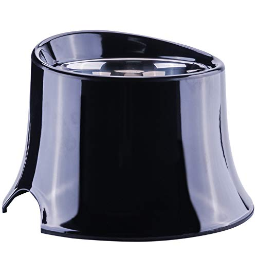 Super Design Elevated Dog Bowl Raised Dog Feeder for Food and Water 2.5 Cup Black