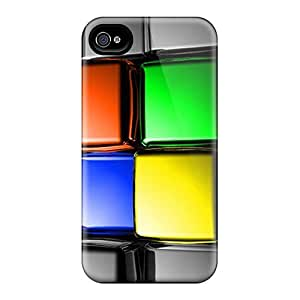 Tpu Case Cover For Iphone 4/4s Strong Protect Case - 3d Cubes Design
