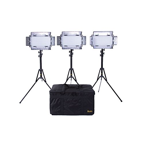 Ikan IB508-v2-KIT Bi-Color LED Studio Light (Black) by Ikan