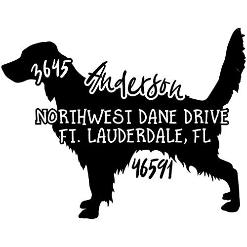 Custom Pet Address Stamp - Self Inking - Return Address Stamp - Choose Your Color and Breed! (Llewellin Setter)