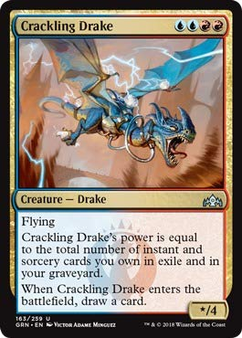 - Magic: the Gathering - Crackling Drake (163/259) - Guilds of Ravnica