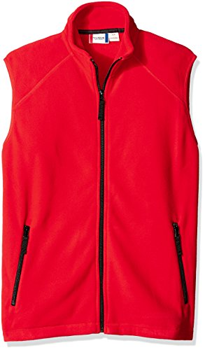 Clique Men's Summit Full-Zip Microfleece Vest, Red, 5X-Large by Clique
