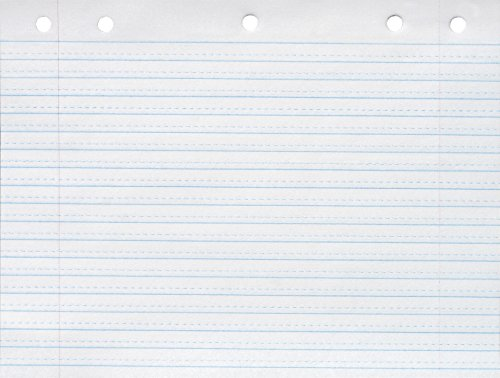 School Smart Cursive Ruled Notebook Paper with Margin - 8 in x 10 1/2 in - Ream of 500 - White