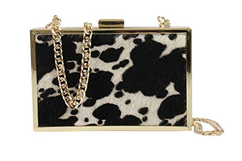 for Box Womens Black HXLPA7 C15 Cavalli Clutch White Roberto 7q0zwz