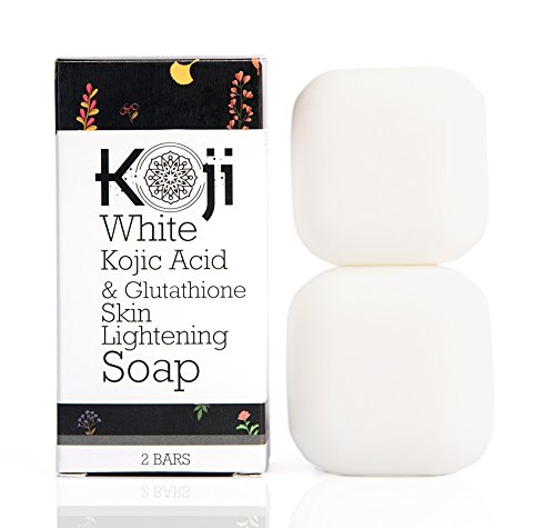 (Kojic Acid & Glutathione Skin Lightening Soap (2.82 oz / 2 Bars) - Brightening & Bleaching Skin Tone Formula – Reduce Acne Scars, Wrinkles Elimination, Removal Acne Scars, Dark Spots And Freckles)