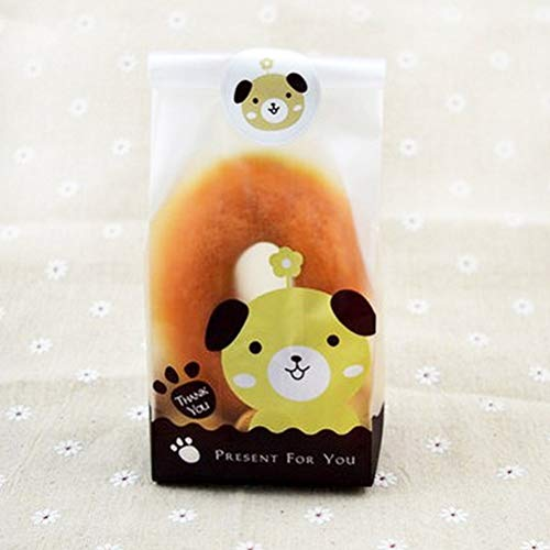 Bags & Wrapping Supplies - 50pcs Set Lovely Cat Dog Print Gifts Bags Candy Biscuits Cake Package Christmas Packaging Self - Ball Cloth Product Toy Dog Cat Tunnel Feather Cloth Pet Wrapping Dog Be