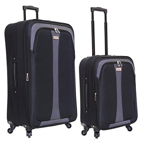 Slimbridge Andalucia set di 2 valigie espandibili, Nero