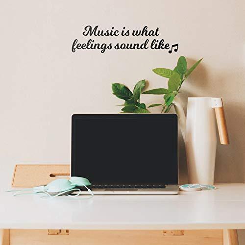 (Vinyl Wall Art Decal - Music is What Feelings Sound Like - 5