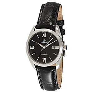Starking Men's Black Dial Leather Band Watch - BL0856SL22