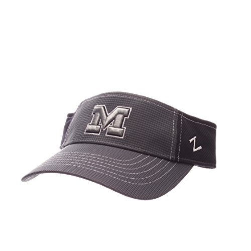 Zephyr NCAA Michigan Wolverines Adult Men's Grid Visor, Adjustable Size, Gray/Team Color (Michigan Wolverines Team Visor)