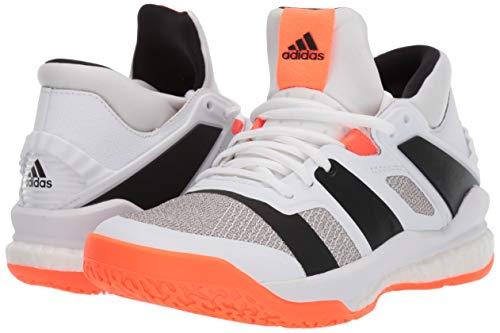 super popular a5583 a9b8e adidas Men's Stabil X Mid Volleyball Shoe, White/Black/Solar Orange, 8.5 M  US