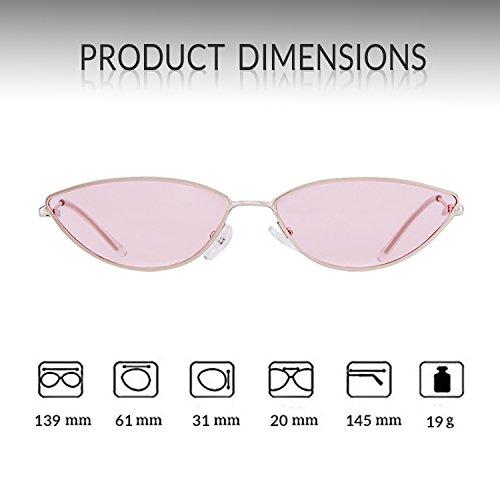 Petites avec pour frame en ADEWU 2018 1 soleil Silver de lens homme métal Pink monture lunettes x4qfnznXS