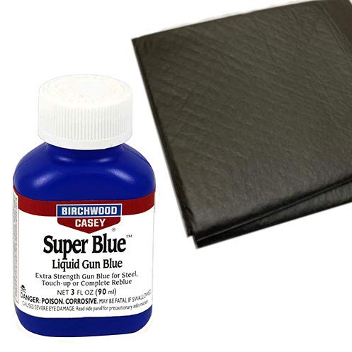 Westlake Market, Birchwood Casey Super Blue Liquid Gun Blue Plus 2 Disposable Absorbent Pads for Gun Restoration Projects