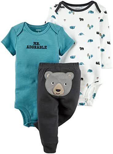 Carter's 3 Piece Bear Set (Baby) - Grey - Newborn