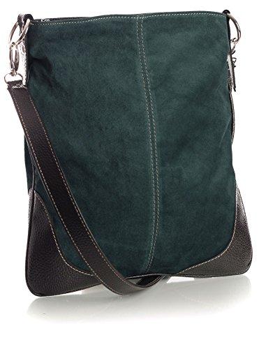 Big Handbag Shop - Bolso bandolera mujer azul oscuro