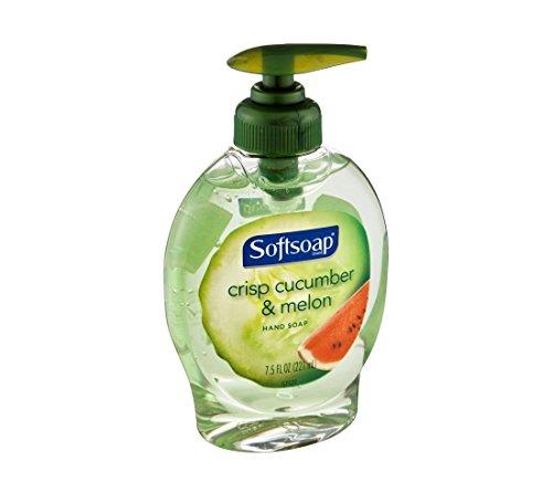 Soft soap Crisp Cucumber & Melon Bathroom Liquid Hand Soap with Pump Dispensers, 7.5 oz. (Pack of 10)
