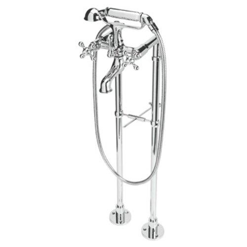 Rohl ACKIT7383X-APC Arcana Exposed Bathtub Set with Handshower and Floor Pillar Legs, Chrome