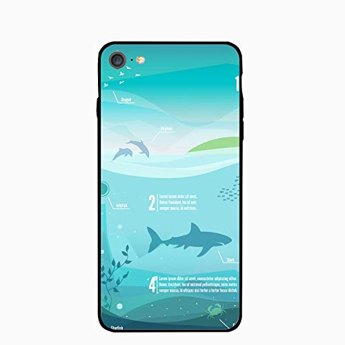 iPhone 6/6s Case,Personalized Underwater Infographics Floral Print PC Cellphone Case -