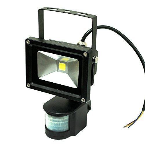 ETopLighting 10 Watt LED Motion Sensor PIR Flood Light For