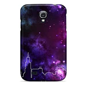 Snap-on Chicago Skyline Space Cases Covers Skin Compatible With Galaxy S4