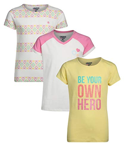 - Limited Too Girls\' Short Sleeve Graphic Fashion T-Shirt (3 Pack), Be Your Own Hero, Size Small / 7-8'