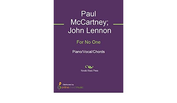 For No One Kindle Edition By John Lennon Paul Mccartney The