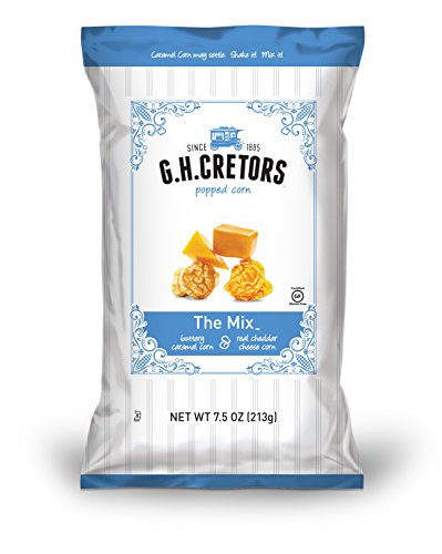 G.H. Cretors Popcorn, The Mix, 7.5-Ounce Bags (Pack of 12)