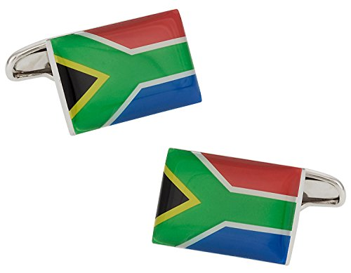 Cuff-Daddy South Africa Flag Cufflinks with Presentation Box