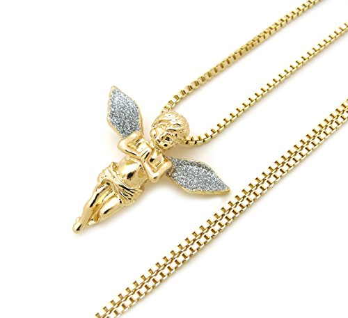 (Sparkled Micro baby Angel Cherub Pendant 2mm 24