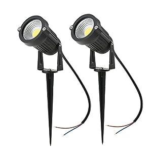 Tomshine 5W 12V COB LED Path Lights Outdoor Spotlight Landscape Lighting 500LM Super Bright for Garden Wall Yard Path