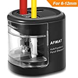 Electric Pencil Sharpener, USB/Battery Operated Pencil Sharpeners with Large Hole, Portable Pencil Sharpener for 6-12mm No.2/Colored Pencils/Soft Charcoal Pencils, for Kids, Artists, Office, Classroom