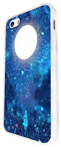 1069 - Cool Fun Full Moon Scene Design iphone SE - 2016 Coque Fashion Trend Case Coque Protection Cover plastique et métal - Blanc