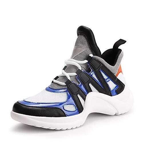 Primavera sintéticos Verano Plano Azul Microfibra Comfort Black Negro Amarillo tacón Zapatillas de PU Mujer Zapatos ZHZNVX Azul de RWwqSx8q0t
