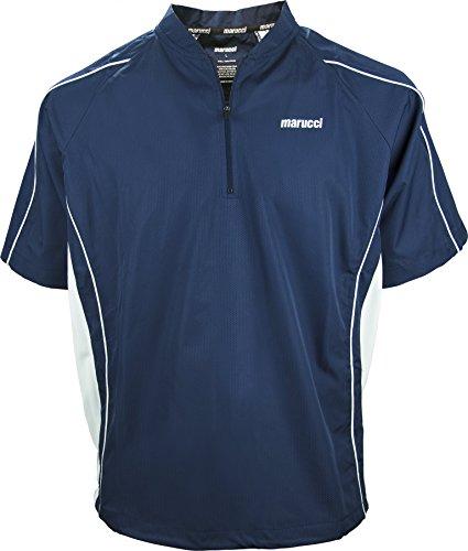 Marucci Adult Short Sleeve Batting Jersey, Navy, Small