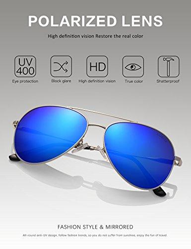 Soleil Lunettes UV Homme 400 LUENX Protection 60mm de 5 Bleu OWcUTOxFnP