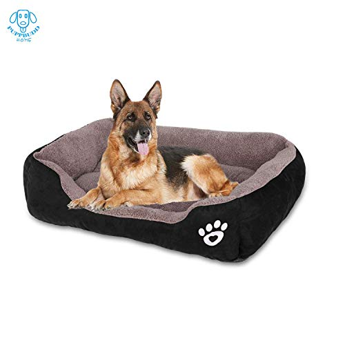 PUPPBUDD Dog Bed with Machine Washable Comfortable and Safety for Medium and Large Dogs Or Multiple Small Pets at The Same time Brand Name (XXL, Black)