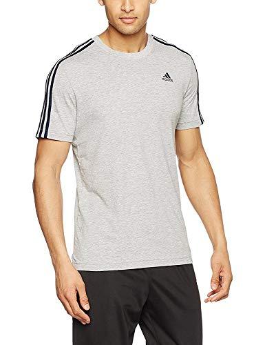 Adidas Homme Thé Heather Grey 3s Pour shirt T Medium Ess rwrq1