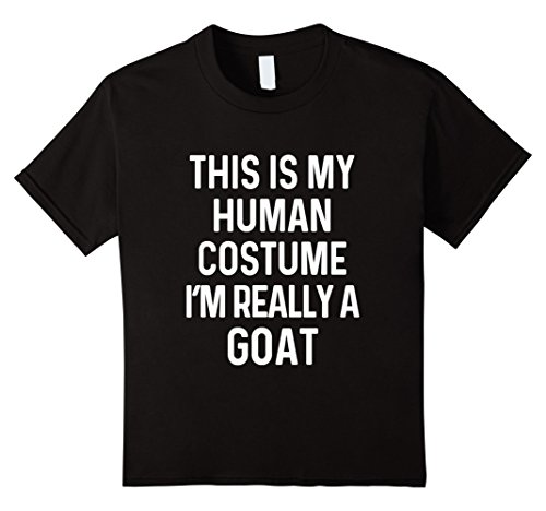Kids Funny Goat Costume Shirt Halloween Men Women Kids 12 Black
