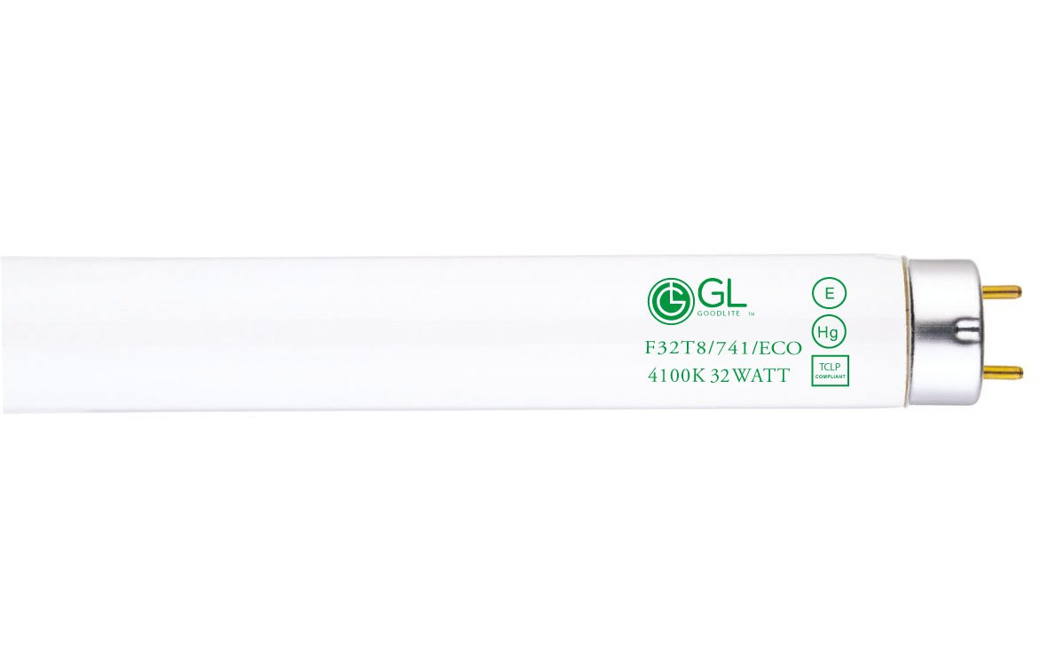Goodlite G-20249 F32T8/741/ECO Straight 32 Watt 48-Inch Inch T8 Fluorescent Tube Light Bulb Cool White 4100k